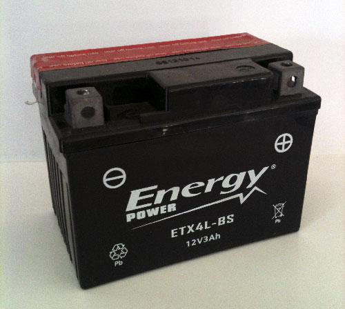 Batteria Moto 3 Ah Codice ETX4L-BS